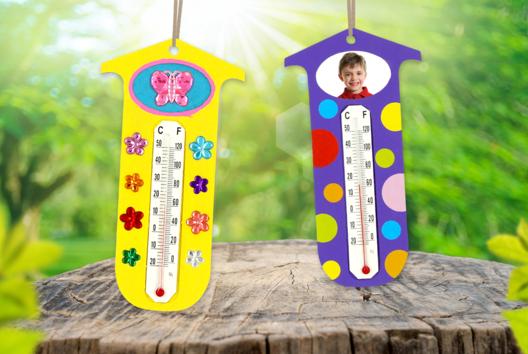 Thermomètre à personnaliser - La météo - 10doigts.fr