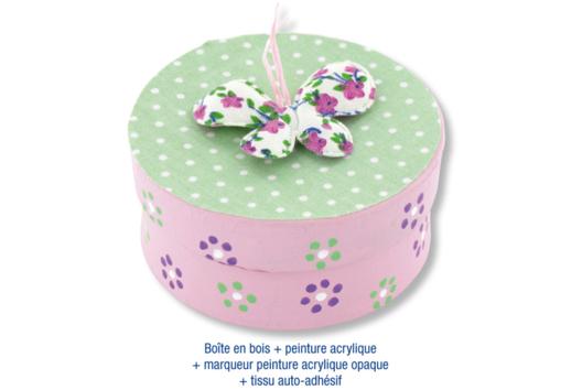 Boîte ronde en bois naturel - Décoration d'objets - 10doigts.fr