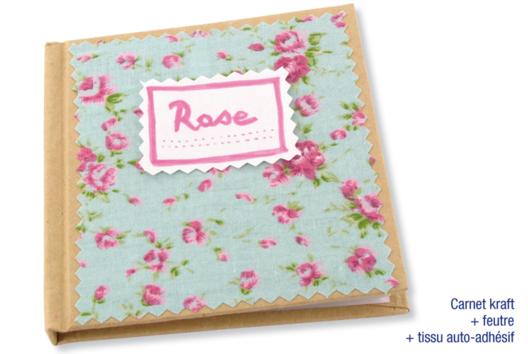 Carnet en carton déco tissu adhésif - Décoration d'objets - 10doigts.fr