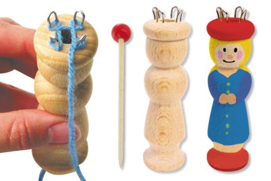 Créations avec des tricotins manuel ou automatique - Laine, pompons - 10doigts.fr