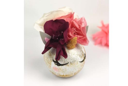 Vase Licorne - Je décore un vase - 10doigts.fr