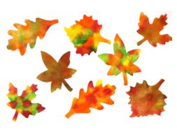 Feuilles d'automne avec de l'encre