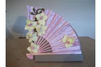 Orchidées et eventail - Fimo, Cernit - 10doigts.fr
