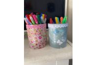 pot à crayons en décopatch - Déco du métal - 10doigts.fr
