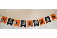 Guirlande d'Halloween réaliser maison avec de la feutrine - Divers - 10doigts.fr