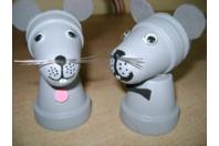 Mini la petite souris en pots en terre - Poterie - 10doigts.fr