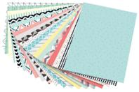 Papiers motifs géométriques 24 x 34 cm - 20 feuilles - Papiers motifs géométriques - 10doigts.fr