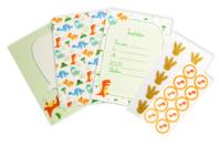 Kit invitations Dinosaure - 10 invitations d'anniversaire - Anniversaires - 10doigts.fr