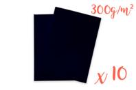 Cartes épaisses noires - 10 feuilles - Papiers épais - 10doigts.fr