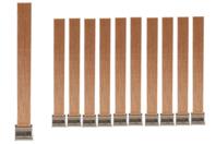 Mèches bougie en bois de pin - 10 mèches - Cires, gel  et bougies - 10doigts.fr