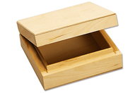 Boite carrée en bois - Boîtes et coffrets - 10doigts.fr
