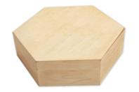 Boîte hexagonale en bois - Boîtes et coffrets - 10doigts.fr