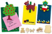 Kit 4 Mémos à fabriquer - Kits Supports et décorations - 10doigts.fr