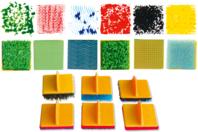 Tampons texturés effets matières - Set de 6 - Tampons - 10doigts.fr