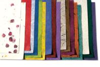 Papiers en fibres naturelles 23 x 33 cm - 18 feuilles - Papier artisanal naturel - 10doigts.fr