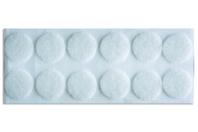 Pastilles velcro rondes adhésives - Lot de 12 - Feutrine, feutre, toile de jute - 10doigts.fr