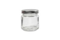 Pot en verre avec couvercle à visser - 100 ml - Supports en Verre - 10doigts.fr