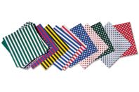 Papiers imprimés à motifs recto/verso- couleurs assorties - Set de 100 - Papiers Origami - 10doigts.fr