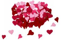 Cœurs en feutrine - Set de 160 - Motifs en tissu molletonné - 10doigts.fr