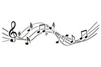 Pochoir frise Musique - 15 x 40 cm - Pochoirs frises - 10doigts.fr