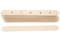 Bâtons en bois avec trous - Bâtonnets, tiges, languettes - 10doigts.fr