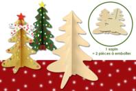 Sapin à emboîter en bois naturel - Noël - 10doigts.fr