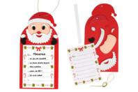 """""""Ma liste pour le Père Noël"""" - Lot de 6 - Activités de Noël en kit - 10doigts.fr"""