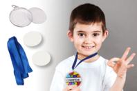 Médailles à personnaliser - Set de 6 - Plastique Transparent - 10doigts.fr