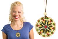 Colliers en bois Mandala - 6 médaillons - Kits bijoux - 10doigts.fr