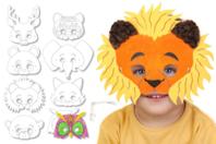 Masques animaux à décorer - Set de 8 - Masques - 10doigts.fr