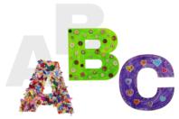 Lettres de l'alphabet en carte forte - 22 cm - Supports de Coloriages - 10doigts.fr