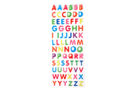 Stickers alphabet en epoxy - Gommettes Alphabet, messages - 10doigts.fr