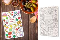 Carnet de recettes à colorier - Supports de Coloriages - 10doigts.fr