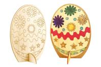 Oeuf en bois naturel à colorier - Supports de Pâques à décorer - 10doigts.fr