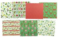 Papiers de Noël - Set de 7 feuilles - Décorations Noël - 10doigts.fr