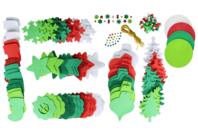 Méga pack formes de Noël à décorer et à suspendre - Suspension Fantaisie - 10doigts.fr