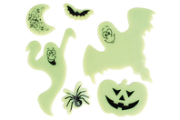 Stickers en gel vitrostatiques et phosphorescents - Halloween - 10doigts.fr