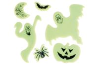 Stickers en gel vitrostatiques et phosphorescents - Halloween - 10doigts.fr