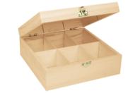 Boîte à thé en bois à 6 casiers - Boîtes et coffrets - 10doigts.fr