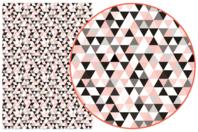 Papier Décopatch Triangles - 3 feuilles  N°699 - Papiers Décopatch - 10doigts.fr