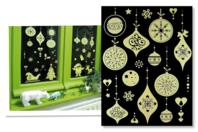Stickers de Noël phosphorescents repositionnables - Set de 16 stickers - Gommettes et stickers Noël - 10doigts.fr