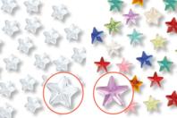 Minis strass étoiles adhésifs - 72 strass - Strass autocollants - 10doigts.fr