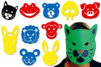 Pochoirs masques - Set de 10 - Masques - 10doigts.fr