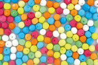 Boules de cellulose couleurs assorties - Set de 200 - Boules cellulose - 10doigts.fr