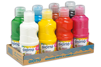 Gouaches GIOTTO 250 ml - 8 couleurs - Peinture gouache liquide - 10doigts.fr