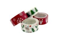 Masking tape Noël - 4 rouleaux assortis - Adhésifs colorés et Masking tape - 10doigts.fr