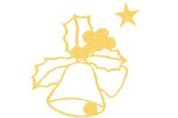"""Stickers Peel Off dorés """"Cloches de Pâques"""" - 14 stickers - Décorations et accessoires de Pâques - 10doigts.fr"""