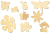 Motifs nature en bois - 70 formes assorties - Motifs brut - 10doigts.fr