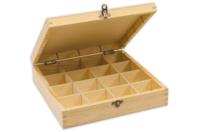 Boîte en bois à 16 casiers - Boîtes et coffrets - 10doigts.fr