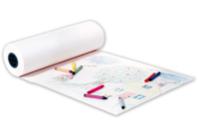 Grand rouleau de papier Blanc pour dessin - Rouleaux et fresques - 10doigts.fr